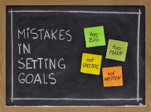 mistakes in goal setting